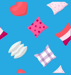Pillow pattern sleeping cartoon texture vector