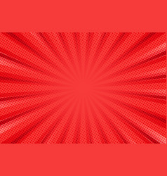 pop art background for poster or book in red color vector image