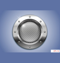 Porthole with transparent glass vector