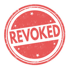 revoked sign or stamp vector image