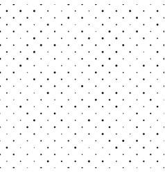 Seamless polka dot pattern black dots in random vector