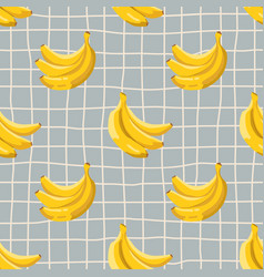 seamless summer pattern with bananas on retro vector image