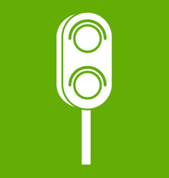 Semaphore trafficlight icon green vector
