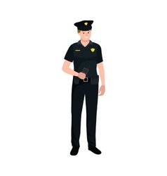 Serve and protect Police man officer male vector
