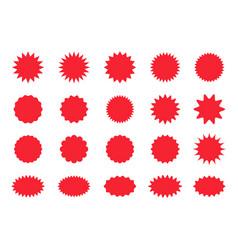 Set star burst stickers starburst price tag vector