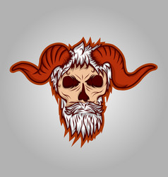 skull horned vector image
