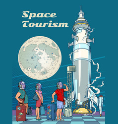 space tourism passengers astronauts are boarding vector image