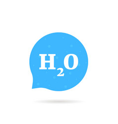Speech bubble like h2o water logo vector