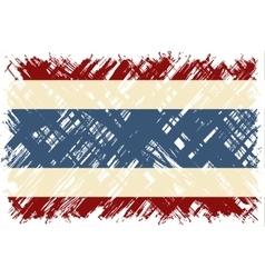 Thailand grunge flag vector