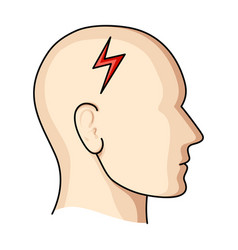 The head of the person with diabetesheadache due vector