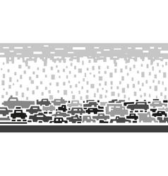 traffic on street vector image