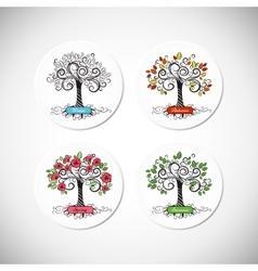 Tree seasons vector