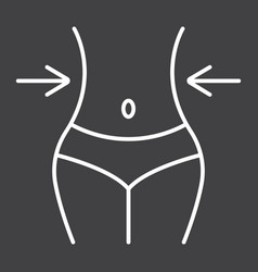 weight loss line icon fitness and sport vector image