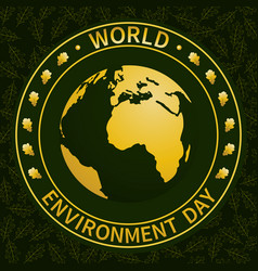 world environment day-04 vector image