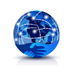 worldwide trading network icon vector image