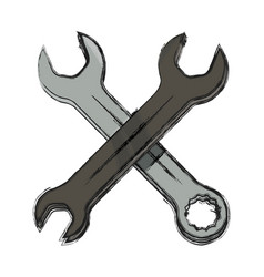 Wrenchs tools crossed vector