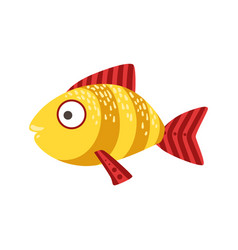 Yellow and red stripy fantastic colorful aquarium vector
