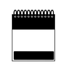 monochrome notebook spiral with sheets vector image vector image