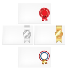 Prize Ribbon Note vector image vector image