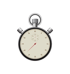Retro vintage stopwatch isolated vector image