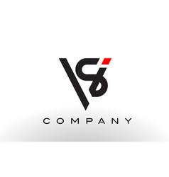 sv logo letter design vector image vector image