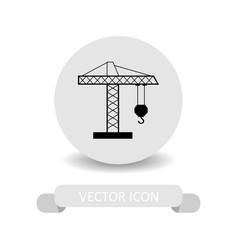 crane tower icon vector image