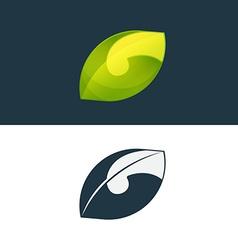 Green leaf and G letter logo vector image vector image
