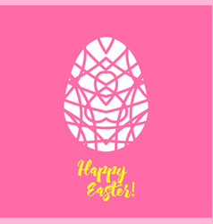 happy easter laser cutting template for greeting vector image vector image