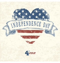 independence day concept card vector image vector image