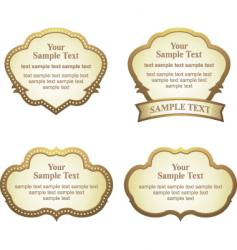 label sets vector image