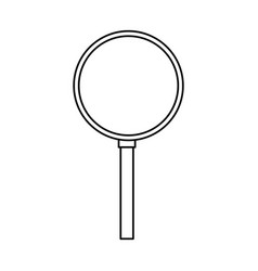 magnifying glass isolated vector image