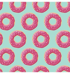 Seamless pattern with colorful tasty glossy donuts vector image