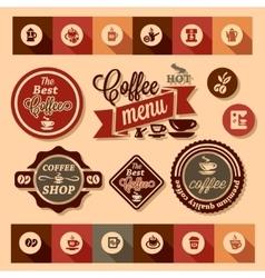 coffee design stickers vector image vector image