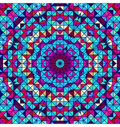 Color Abstract Geometric Retro Pattern vector image