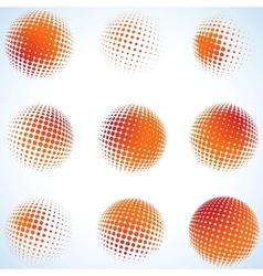 Creative abstract art circles design EPS 8 vector image