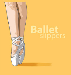 cute ballet slippers vector image vector image
