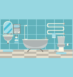 modern bathroom interior with furniture vector image