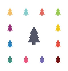 tree flat icons set vector image