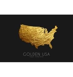 USA map Golden USA logo Creative USA logo design vector image vector image