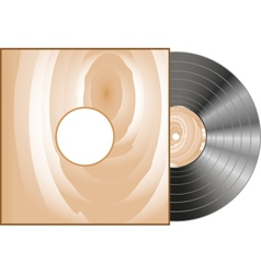 vinyl and wood cover vector image