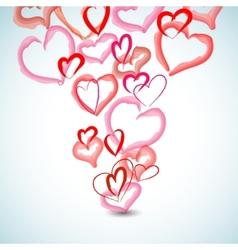 watercolor hearts background vector image vector image