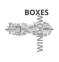 where did the window boxes go text word cloud vector image vector image
