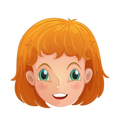 A face of a young girl vector image vector image