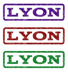 lyon watermark stamp vector image vector image