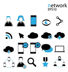 Social Media Icon Network vector image