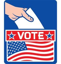 USA Vote Poster Design vector image