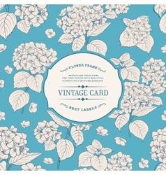 Vintage floral label vector image