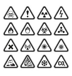 Warning signs vector