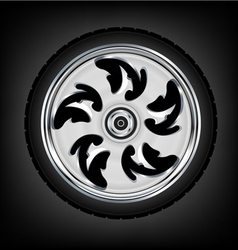 wheel and tyre vector image vector image