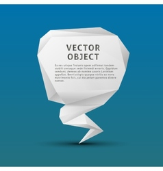 White paper polygon triangle object on blue vector image vector image
